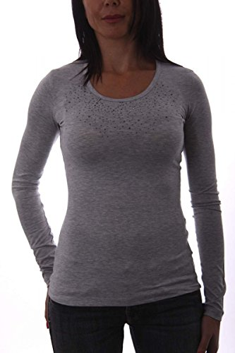 Shield & Couture -  Maglietta a maniche lunghe  - Donna Grigio
