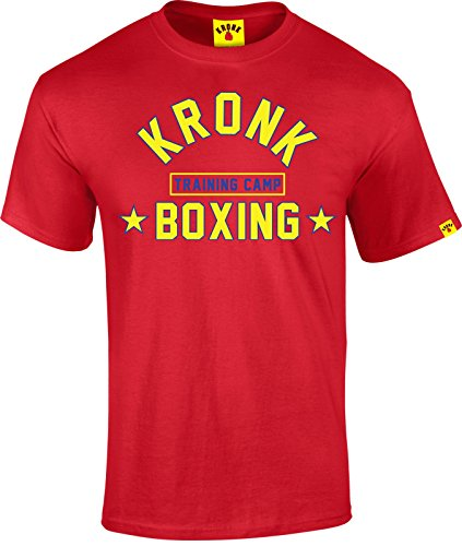 KRONK Boxing Training Camp T Shirt Klitschko Lennox Lewis Evander Holyfield. Rot