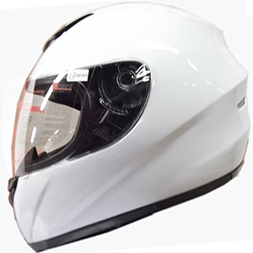 Leopard LEO-818 Full Face Helmet Scooter Motorcycle Motorbike Crash Helmet White XL