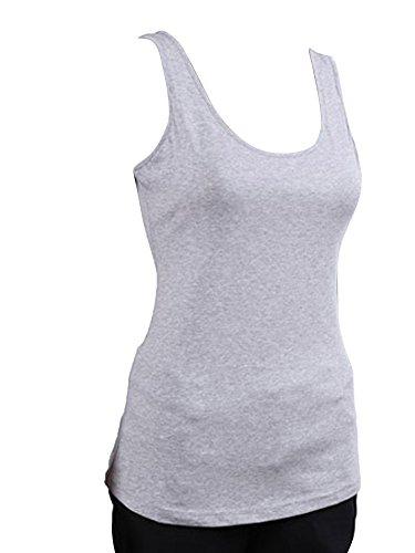 Molly Sexy Donne Senza Maniche Capestro Top Gilet Camicetta T Shirt Taglia XL Grey