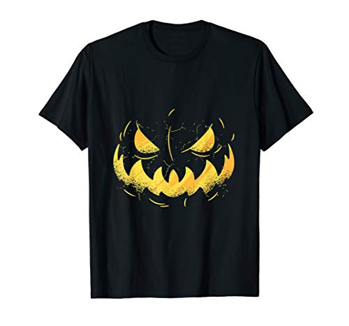 Kostüm Damen Lantern Green - Halloween Creepy Scary Kürbis Jack O'Lantern Kostüm T-Shirt