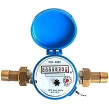demiawaking 15 mm 1/2 pulgadas contador de agua fría para jardín y hogar usando