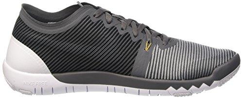 Nike Free Trainer 3.0 V4, Chaussures de Sport en Plein Air Homme Grey / Blanc / noir (Drk Grey / Wlf Gry-Mtllc Gld-Blk)