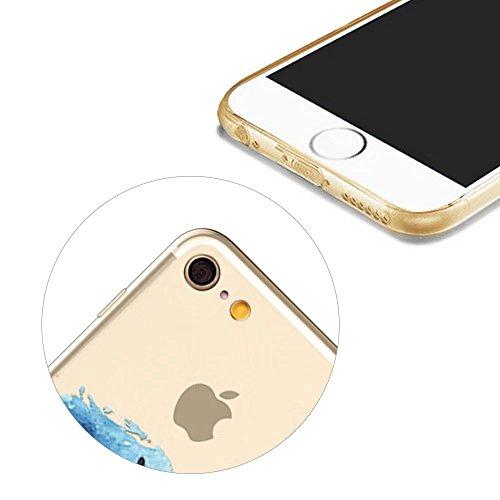 MOMDAD Coque pour iPhone 6 6S Silicone TPU Etui iPhone 6 6S Souple Coque pour iPhone 6 6S 4.7 Pouces Housse Bling Transparent Arrière Case Motif Shell Cas Couverture {Anti-Choc} {Anti-Shock Bumper} Ca Poisson Fish-4