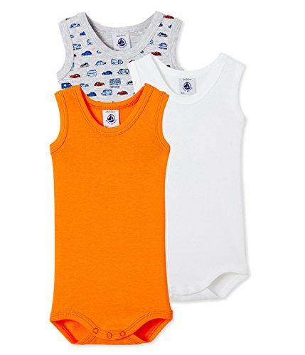 Petit Bateau Baby-Jungen Body SM_24028, 3er Pack, Mehrfarbig (Special 00), 80 (12m/74cm)