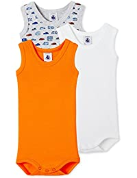 Petit Bateau Baby-Jungen Body Sm_24028, 3er Pack