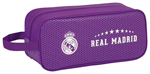 Real Madrid 11677 Bolsa para Zapatos, 34 cm, Morado
