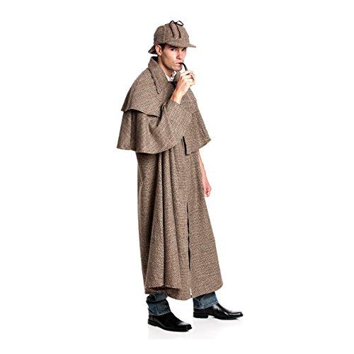 Kostümplanet® Detektiv Kostüm Herren Detektivkostüm Dedektivkostüm Umhang + - Sherlock Holmes Kostüm