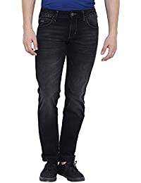 Wrangler Men Solid Cotton Grey Jeans