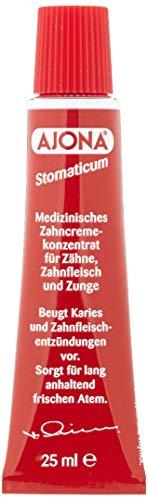 Dr. Rudolf Liebe Nachfolger Ajona Stomaticum medizinisches Zahncremekonzentrat, 4er Pack (4 x 25 ml)