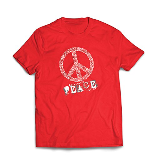 st Du Stück von Mir - Frieden Slogan, 60er 70er Hippie - Hippie Festivals, Hipster Swag (Large Rot Mehrfarben) (Halloween Kostüme Einfach Selbstgemacht)