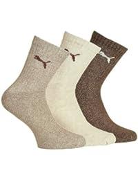 Puma - Calcetines de deporte para hombre, talla 35-38 - 6er Pack, color chestnut combi