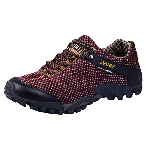 Longra Zapatillas de Senderismo de Verano para Hombre de Deporte Deportivas de Malla Transpirable Antideslizantes