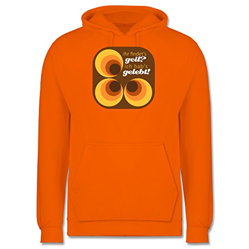 Vintage - Ich hab's gelebt - 70s - Männer Premium Kapuzenpullover / Hoodie Orange