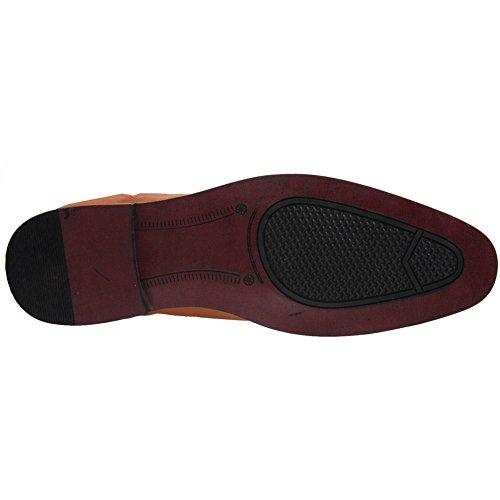 Kleid Männer Schuhe Für Formales Dhester G00084 Braun Leder Unze xvqzXw5FF