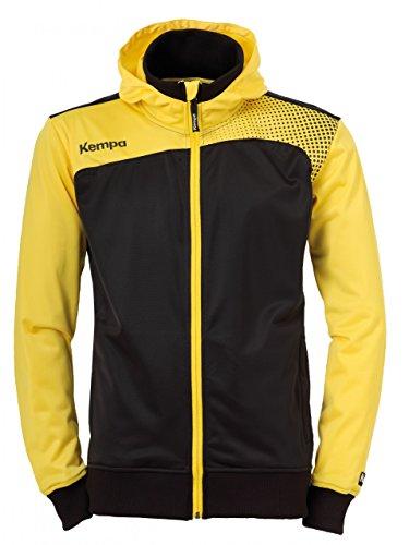 Kempa Emotion Veste à capuche jaune/noir