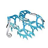 Tentock All'aperto Ultraleggero 14 Denti Artigli Ramponi per Scarponcini da Trekking - Lega di Alluminio Ice Claws per Arrampicata Alpinismo(Blu)