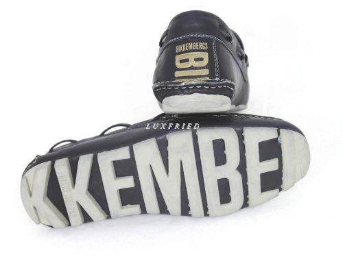 Bikkembergs Herrenschuhe Schuhe Mokassins Shoe 105528 Blau