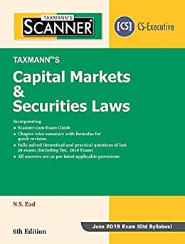 Ebooks Scanner-Capital Markets & Securities Laws (CS-Executive)(For June 2019 Exam -Old Syllabus) (6th Edition January 2019) Descargar Epub