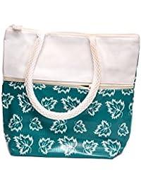 Women Hand Bag_women Hand Purse_ Women Pakit_purse Aqua Colour _ Flower Design With Zip Lock _ Out Side One More...