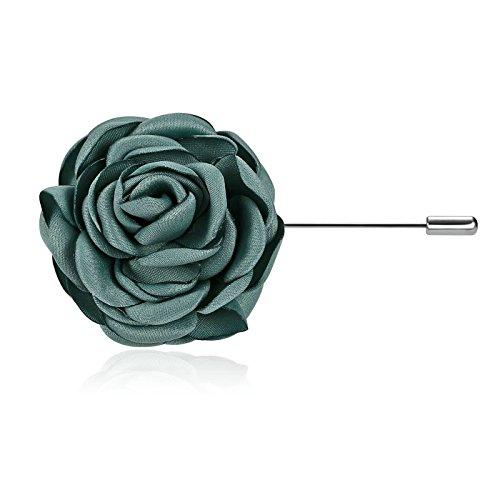 Adisaer Damen Brosche Edelstahl Grün Revers Ansteckblume Handgefertigt Broschen Frau Kleider Pin Party (Viktorianische Günstig Kleider)
