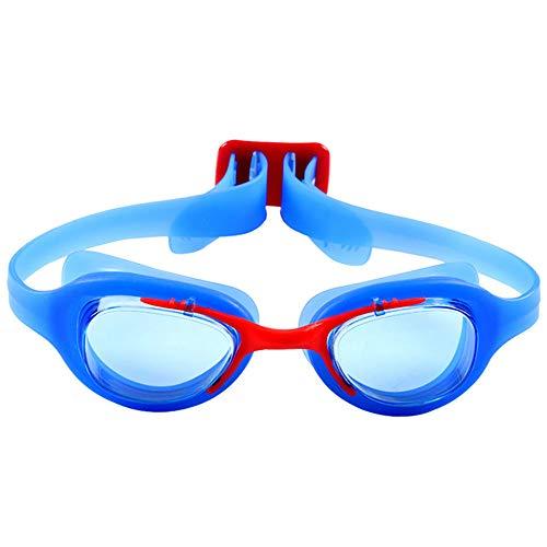 YYXYYX Kinder Schwimmen Schutzbrillen, Anti-Fog wasserdichte GroßE Box Hd Schwimmbrille,Blue