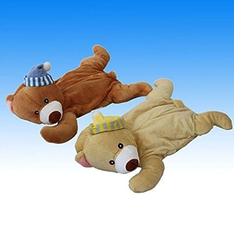 750ml Kinder Wellness Wärmflasche Bettflasche Wärm Flasche Therapie in in Teddybär Design