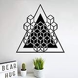 Bomdow Mandala Art Wandaufkleber Wandbild Geometrie Platonisch Wandtattoo Würfel Alchemie Geometrische Linie Wohnwand Dekor Poster57X57 Cm