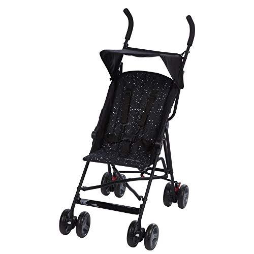 Safety 1st Flap Passeggino Ultraleggero, Per bambini fino ai 15 kg di peso, Nero (Splatter black)