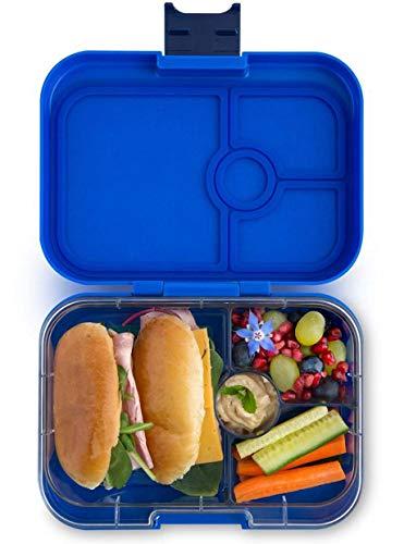 Yumbox Panino M Bento Box - mittelgroß, mit 4 Fächern   Lunchbox mit Trennwänden   Kindergarten Kinder, Schulanfang, Erwachsene (Neptune Blue)