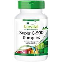 Super C-500 Komplex - für 100 Tage - VEGAN - HOCHDOSIERT - 100 Tabletten - hochdosiert, Vitamin C mit Bioflavonoiden preisvergleich bei billige-tabletten.eu