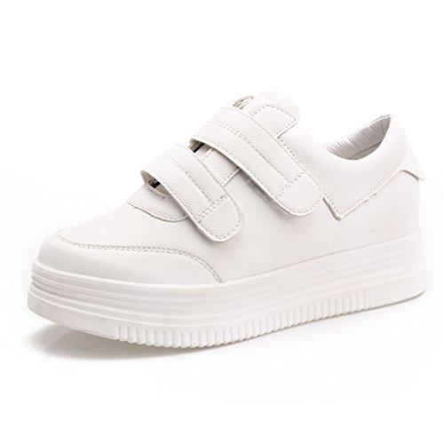 Wuyulunbi@ La primavera e autunno Scarpe bianche con suole di calzature sportive Calzature Bianco