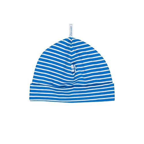 Finkid Hittili blue offwhite Kinder Jersey Beanie Mütze