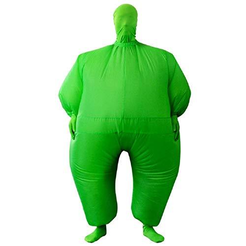MIANJUTIA Blow Up Full Body Aufblasbare Halloween Kostüm Polyester Bekleidung Jumpsuit Fett Anzug für Erwachsene Party Cosplay Fancy Dress Grüne Farbe