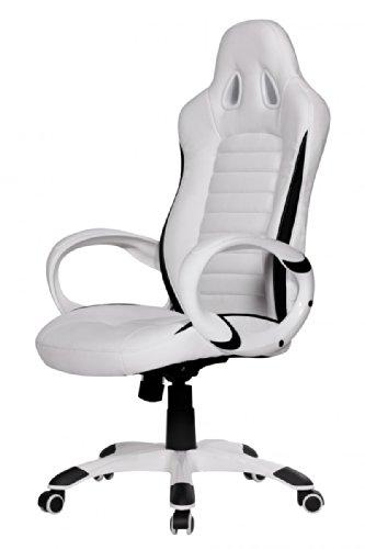 Finebuy sedia da ufficio racing bianco gaming poltrona for Sedia da scrivania design