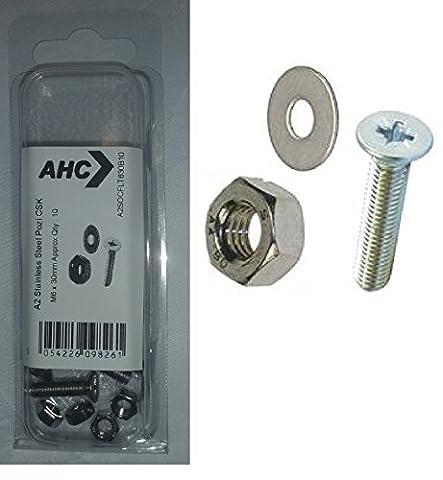 AHC a2pozcsk430b10/empreinte Pozidriv à tête fraisée en acier inoxydable A2M4x