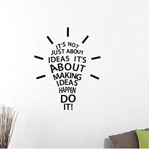Passieren Tun Sie Es Inspirierend Zitat Wandtattoo Glühbirne Arbeit Erfolg Motivation Vinyl Aufkleber Art Home Room Office42 * 52Cm ()
