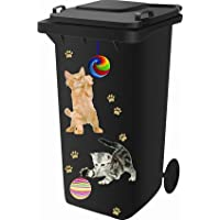 Classic Sign & Design Wheelie Bin Stickers - Cat/Kitten