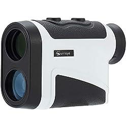 Télémètre de golf - Portée: 5 - 1800 mètres, Bluetooth Télémètre laser compatible avec la hauteur, l'angle, la mesure de distance horizontale Parfait pour la chasse, le golf, le sondage technique