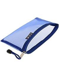 Generic Sac De Voyage Pochette Transport Portable Filet de Rangement Fermeture Éclair 10 Couleur - Bleu