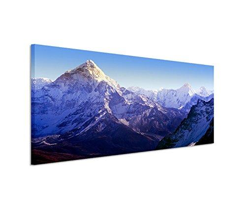 Modernes Bild 150x50cm Landschaftsfotografie – Beeindruckender Mount Everest