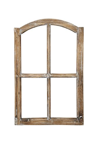 fensterrahmen deko fenster Deko-Fensterrahmen Holz- Rahmen Fenster-Attrappe Holz natur shabby gewischt Vintage