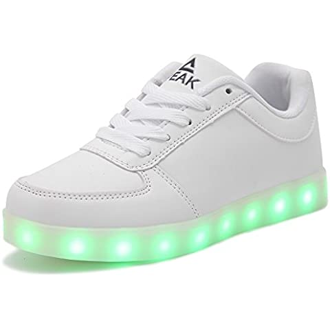 PEAK Unisex Hombre Mujeres 7 Colores Light Up Zapatillas Niña Mujer Led Shoes for Kids