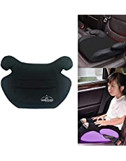 Safe-O-Kid Premium Quality Backless Car Booster Seat, Travel Friendly, Plush Padding Car Booster Seat for Kids- Black