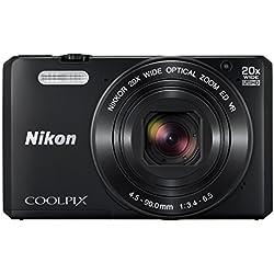 """Nikon Coolpix S7000 Appareil photo numérique compact 16 Mpix Écran LCD 3"""" Zoom optique 20X Noir"""