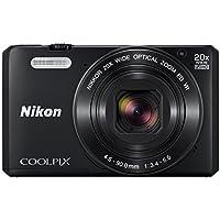Nikon COOLPIX S7000 Compact Digital Camera - Black (16.0 MP, CMOS Sensor, 20x Zoom) 3.0 -Inch LCD