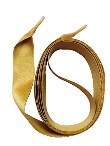 Snors lacci in raso - satin - oro 16mm stringhe per scarpe stringhe colorate
