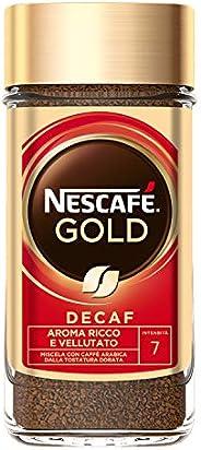 Nescafé Gold Caffè Solubile Decaffeinato Barattolo, 200g