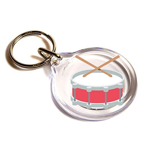 tamburo-con-bacchette-gli-emoji-key-ring-drum-with-drumsticks-emoji-key-ring