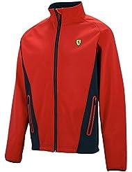 Ferrari Softshell – Chaqueta, tamaño L – Scuderia Ferrari Chaqueta – Fórmula 1 – Rojo